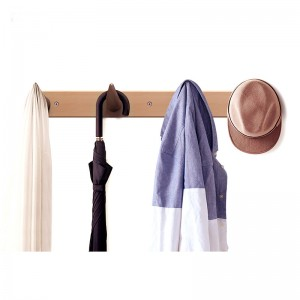 Wall Mount Wooden Coat Rack – Hanging Hooks for Jackets, Coats, Hats and Scarves, Great for Elegant and Simplicity Modern Decorative Style Room With 2 Hooks