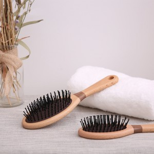 Healthy Massage Antistatic Hairbrush Massage Health Comb Natural Green Tan Comb Massage Airbags Comb walnut Hair Brush