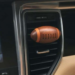 Wooden Car Fragrance Diffuser Vent Clip, Car Air Freshener Aromatherapy Essential Oil Diffuser, Aromatherapy Air Purifier, Remove Smoke and Bad Odors - Rugby