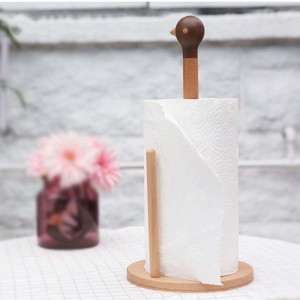 Countertop holders for paper towels,Tissue Holder Stand, Wooden Decorative Toilet Roll Holder - Versatile and Decorative Stand Up Paper Towel Holder for Bedroom, Living Room, Bathroom, Kitchen, Offices - Birdie