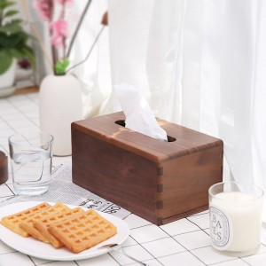Tissue towels Cover / Refillable Wooden Kitchen Napkin Holder & Dispenser/Mortise and tenon structure