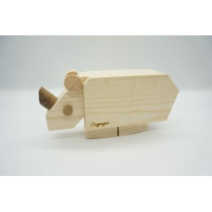 Lagogo ramp walking wooden rhino toy